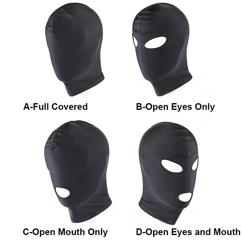 أربعة نمط مطاطا الأسود دنة الجنس قناع عيون مفتوحة الفم صنم عبودية قناع حزب المثيرة ألعاب الكبار ألعاب مثيرة للأزواج 17901