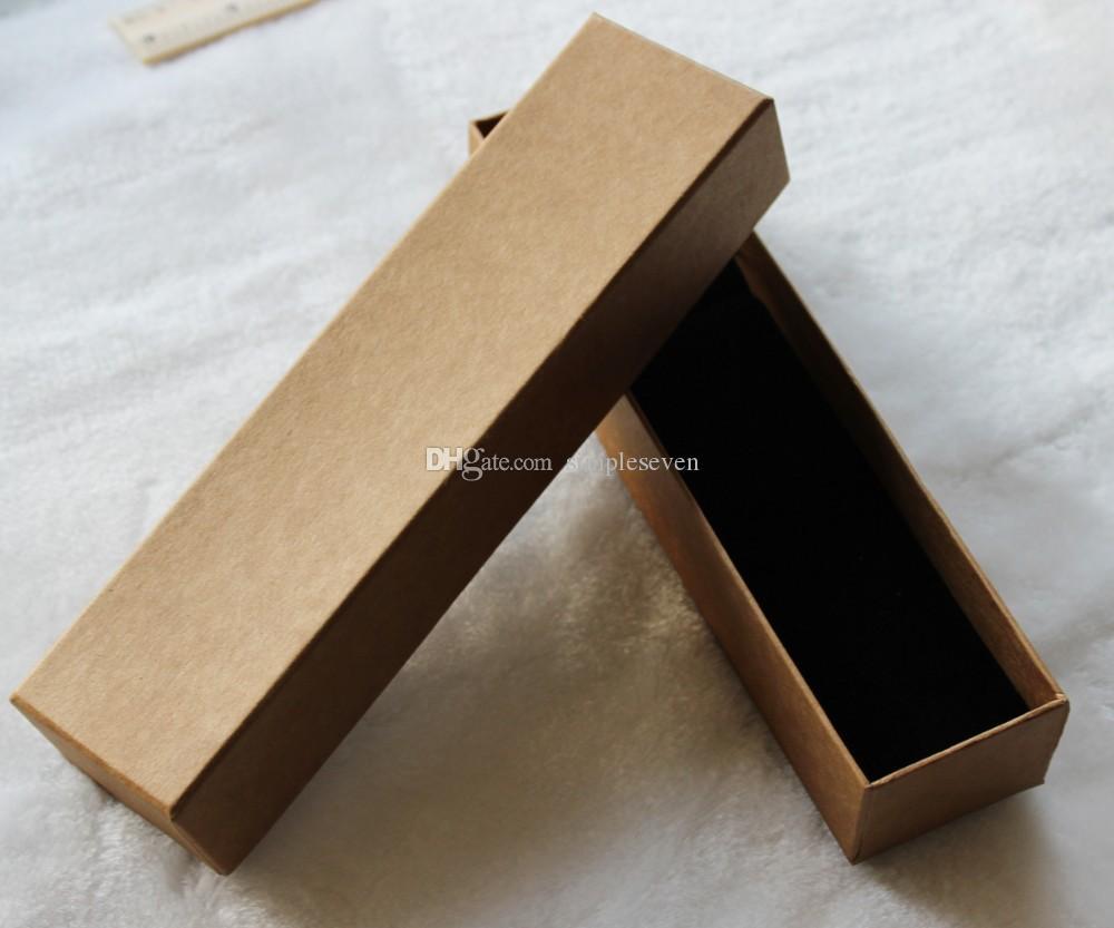[Simple Seven] Haute Qualité Muji Collier Boîte à bijoux / Bracelet Emballage / Paquet cadeau / papier Kraft long affichage pour femmes Bijoux