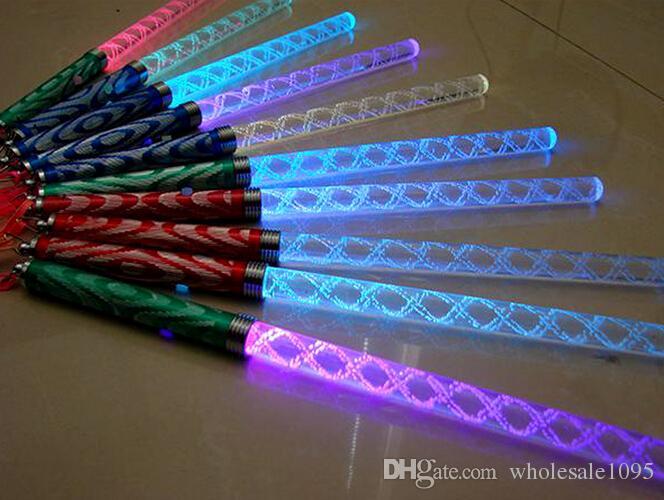 25.5CM LED Bâtons Lumineux Acrylique LED Bâtonnets Lumineux Concert Bar Clignotant Baguettes Lumineuses Allumez Jouets Fête De Noël Ornement Décoration boda