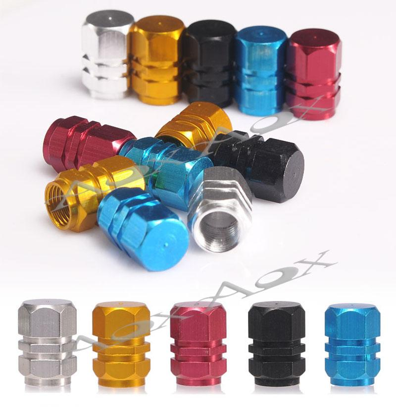 Universal Auto Bicycle Car Tire Valve Caps Tyre Wheel Hexagonal Ventile Air Stems Cover Airtight rims Accessories