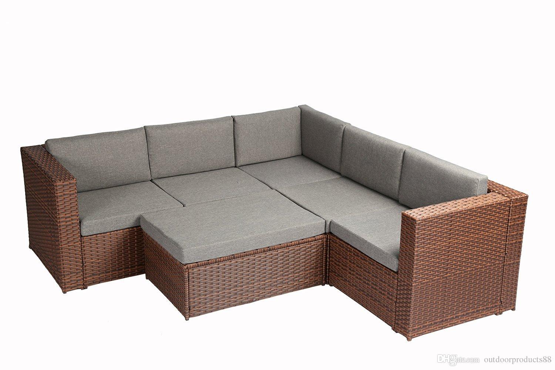 Compre Jardín Muebles Al Aire Libre Patio Completo 6 Piezas Pe De ...
