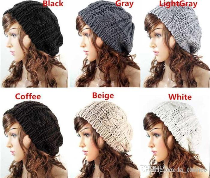 Women Warm Hat Baggy Beret Hot Sales Cotton Knit Knitted Braided Beanie Ski  Cap For You Beanies For Men Trucker Caps From La chance 5520d856949