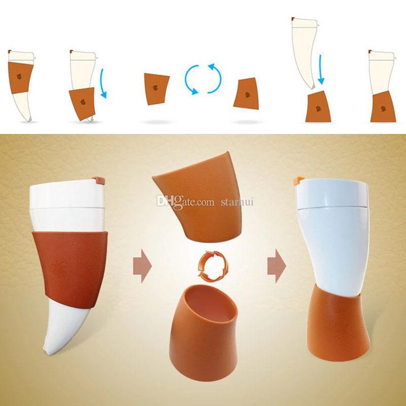 El más nuevo de Cuernos de Cabra Taza de Termo de Acero Inoxidable Taza de Café Taza de Cuerno Botella que Viaja Con Cuerda Tazas de Aislamiento Envío Gratis 230 ml WX9-23