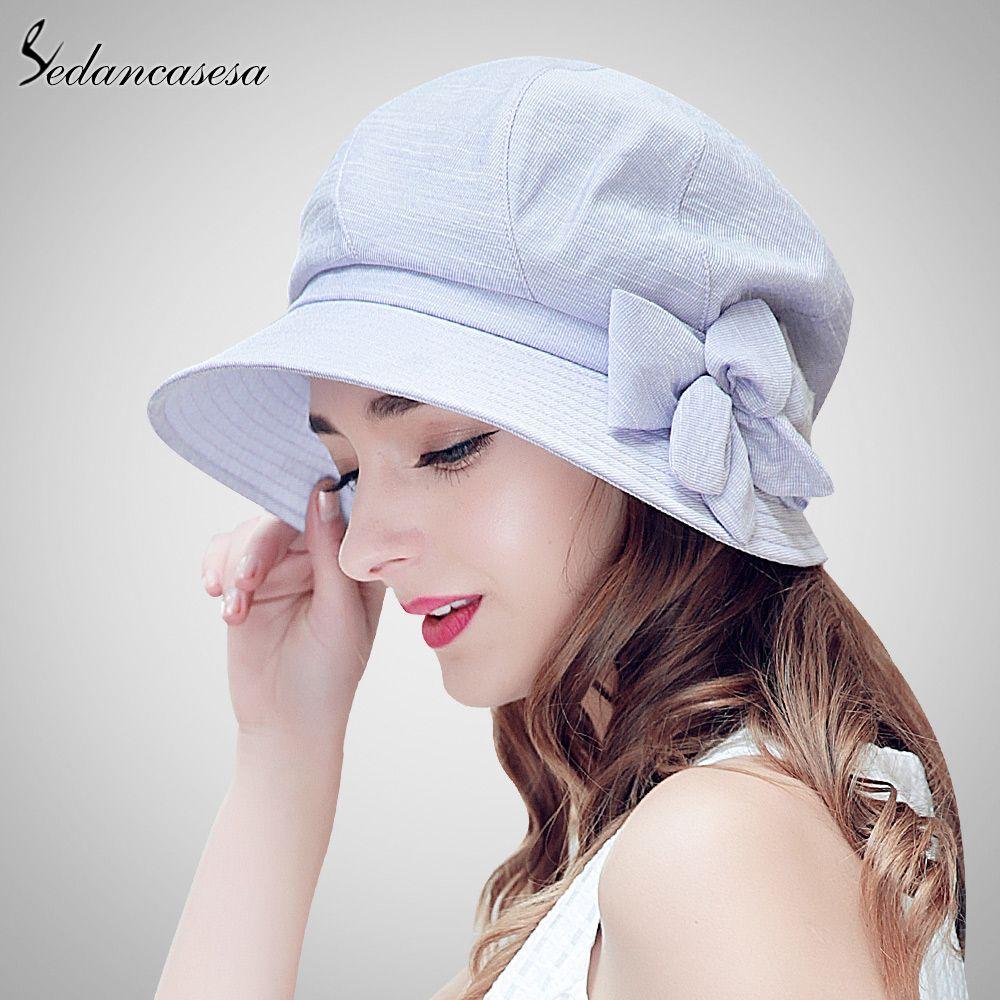 Wholesale- Sedancasesa Hat Female Summer Korean Travel Sun Hat Bucket Hats  for Women Leisure Beach Cap Sun Protect Foldable Cap WG160012 Sun Hat Beach  Hats ... e858fc3daba2