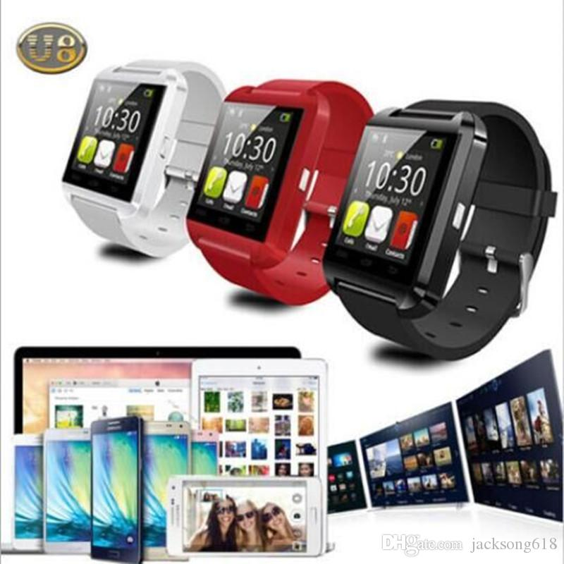 2016 U8 Smart Watch Android SmartWatch Digital Sport Wrist U20 smartWatch kit for iOS Android Phone U80 GT08 U8 Smart watch DHL