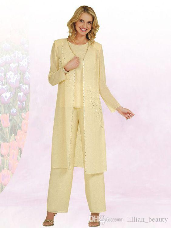 Lady Women Long Sleeve Formal Party Pant Suits With Long Jacket ...