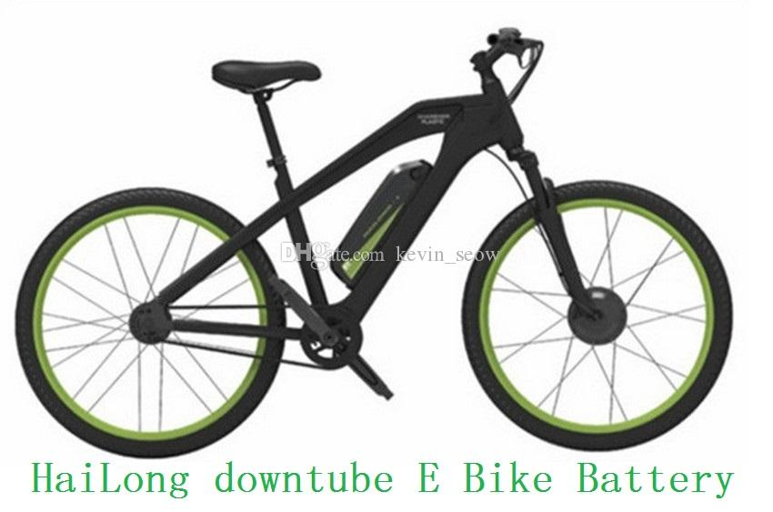 Great e-bike AKKU Hailong battery 36v 17ah lithium battery for electric bikes new downtube battery pack for-panasonic cells with 2A charger