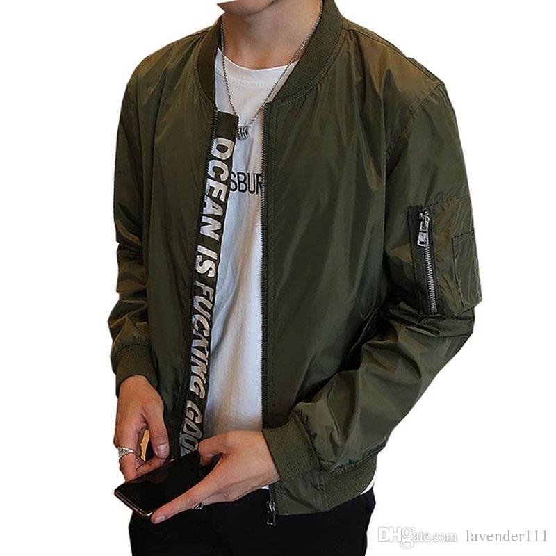 e1375389602 Jacket Men S Overcoat Casual Bomber Jackets Men Outdoor Windproof Waterproof  Thin Coat Jaqueta Masculina Clothing Plus Size XXXL Black Leather Bomber  Mens ...
