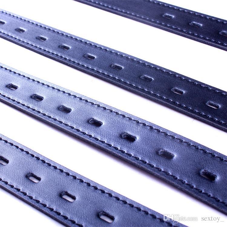 sofe leather Black Full Body Fetish leather Bondage Belt Restraint Device Bondage set juguetes Sex Toys For Couples