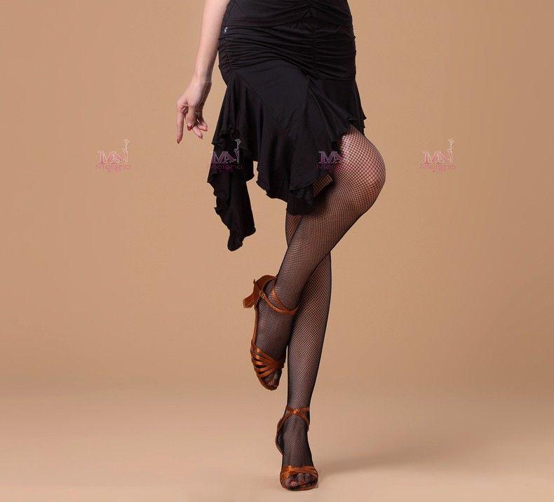 Women Latin Dance Skirt Red/Black/Leopard Cocktail Dresses Milk Silk Samba/Salsa/Paso Doble Practice/Performance Dance Wear