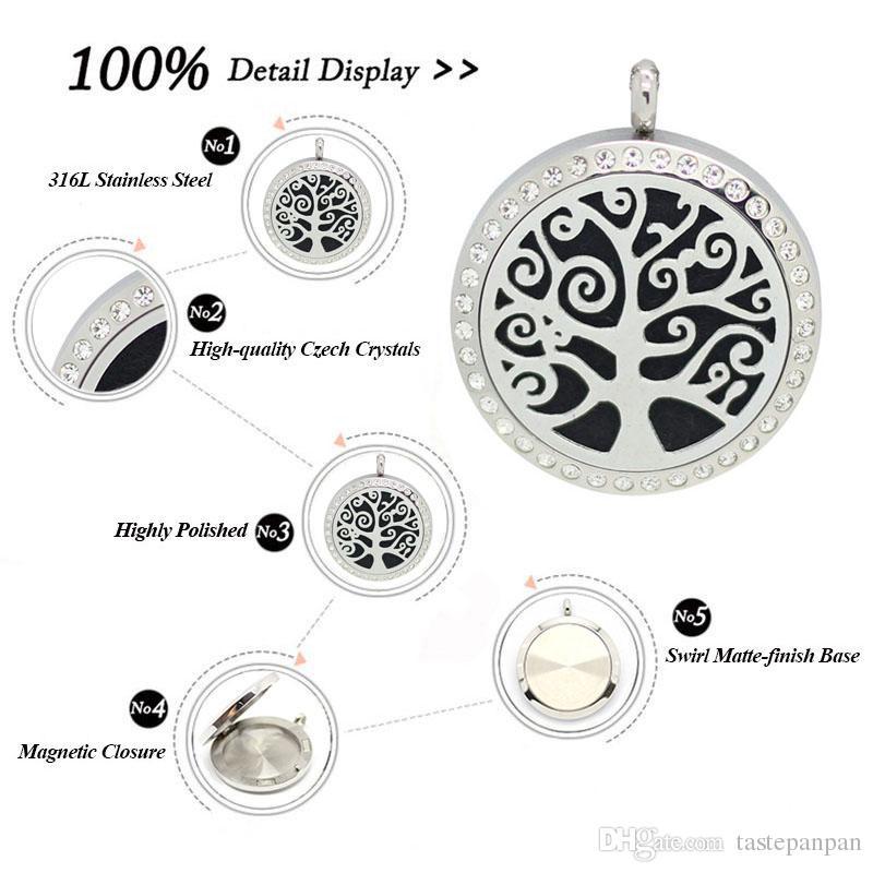 mit Kette als Geschenk! 316L Edelstahl Silber Parfüm Medaillon Wesentliche Aromatherapie Diffusor Medaillon Halskette für sift