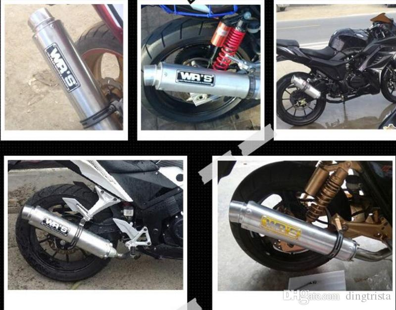 TKOSM Universal Modified Motorcycle Exhaust Pipe For WRS Exhaust Muffler CB400 CBR400 VFR400 High Quality