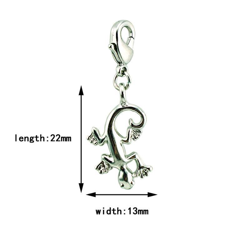 Fascino galleggiante all'ingrosso aragosta fibbia placcato argento Gecko all'ingrosso fascini fai da te gioielli che fanno accessori