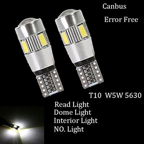 Lighting T10 6SMD 5630 194 501 W5W White Car LED Light Bulb Canbus ERROR Free Lamps