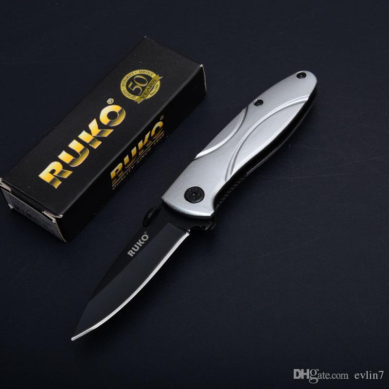 Special Offer RUKO 30th anniversary Folding Knife 3Cr13 Titanium Blade Aluminum Handle EDC Pocket Knives Tactical Gear