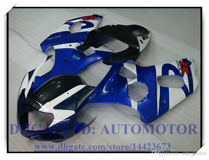 Inyección ajuste del 100% nuevo kit de carenado para Suzuki GSXR1000 2000 2001 2002 GSXR1000 00 01 02 GSXR 1000 00 01 02 # N48BG AZUL NEGRO BLANCO
