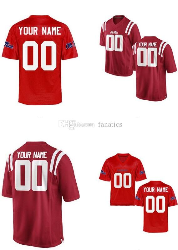 e8126521d68b 2019 Mens Women Youth Kids Ole Miss Rebels Personalized Customized College  Cheap Jersey Red Cardinal Jerseys Top Quality Drop Shipping Cheap From  Fanatics