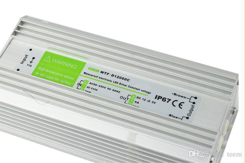 X20 AC 110-240V a DC 12V 15W - 200W Impermeable IP67 Controlador electrónico Fuente de alimentación para exteriores Adaptador LED para transformador de tiras Luces submarinas