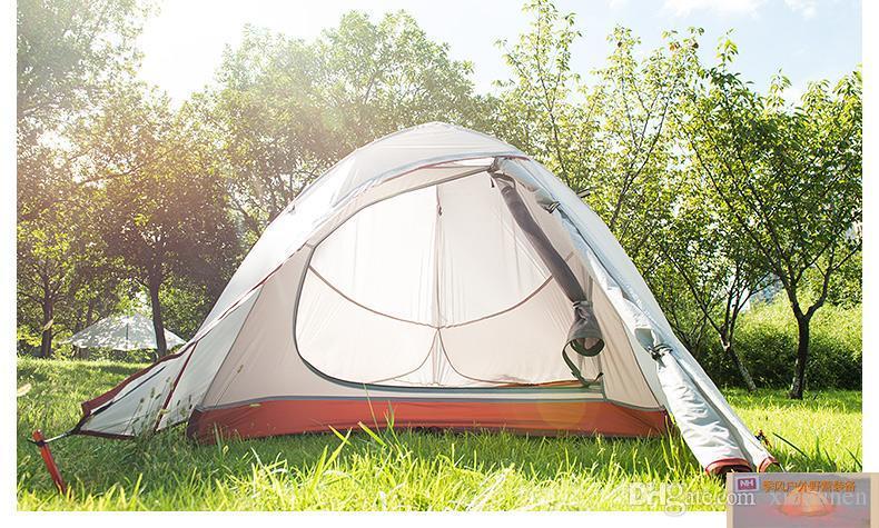 Leichte eine Person Wetterfestes kletterndes Zelt vier Jahreszeiten Im Freien Silikagel Campingzelte Bilayer Gegen Regenstürme