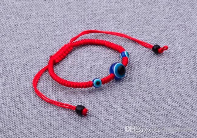 12 KAPALI Charm Bilezikler / Dize Nazar Şanslı Kırmızı Kordon Ayarlanabilir Bilezik Hediye DIY kırmızı