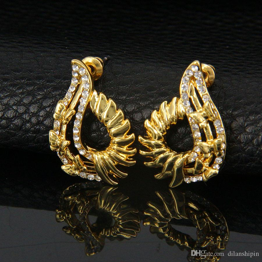 Jewelry Sets Women Party 18K Gold Plated austrian crystal Trendy Necklace Earrings Fashion wedding unique Africa Set Jewelrys