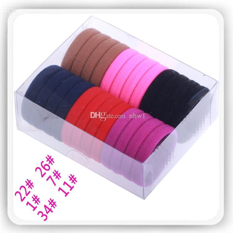 Menina Doce Cor elástico moda alta elastic hair rope laços headband goma menina acessório do cabelo