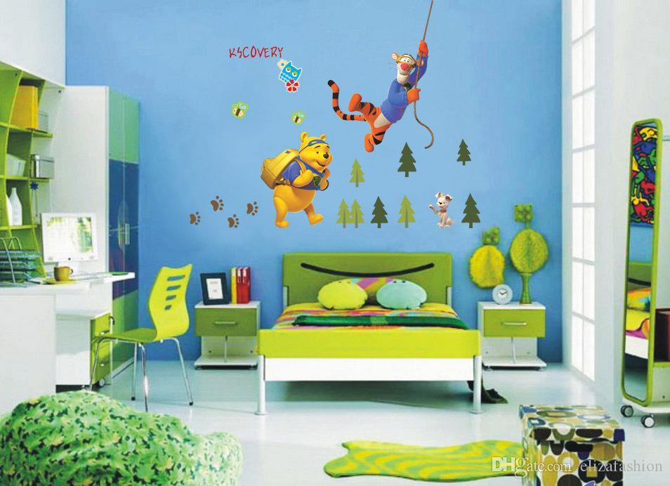 Winnie The Pooh Wall Sticker Tiger Decals Home Decoration Decor