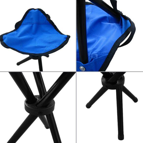 Folding Outdoor Camping Wandern Angeln Picknick Garten Qualität BBQ Hocker Stativ Drei Füße Stuhl Sitz Kostenloser Versand