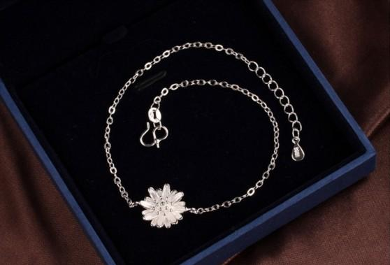 Gorgeous Daisy Anklets Sterling Silver 925 Women Anklets Exquisite Handmade Ankle Bracelets Gifts For Girls Foot Chains Barefoot Sandals