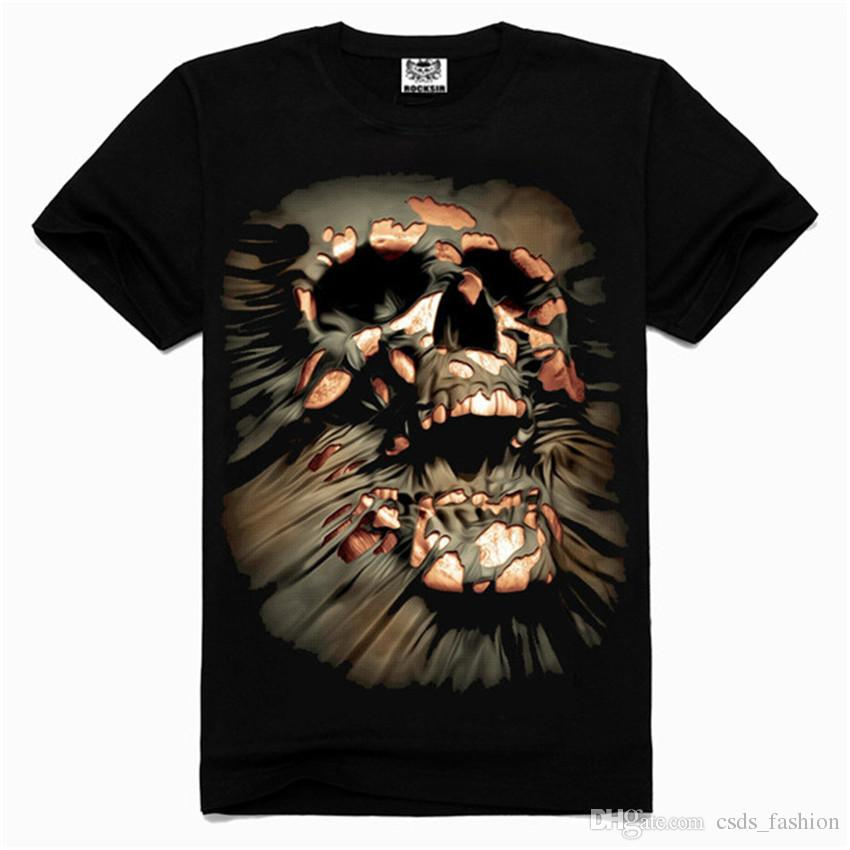 2016 Skeleton Head T Shirts For Men 3D Printed T Shirts