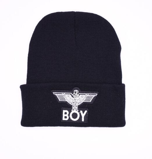 Men Beanie Winter Knitted Wool Baseball Caps Fashion Embroidered Women Cotton BOY LONDON GD Black Hat Fashion Hip Hop Skull Hats Trukfit