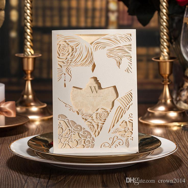 Elegant Free Personalized Wedding Invitations Cards Laser Cut