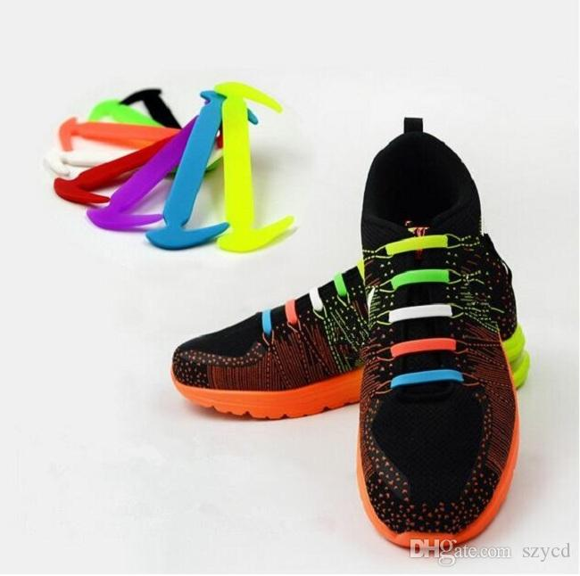 official images amazing selection save up to 80% 2019 HOT Sale! Unisex Easy No Tie Shoelaces Elastic Silicone Shoe Laces  Canvas For Walking, Running, Sneakers From Szycd, $0.81 | DHgate.Com