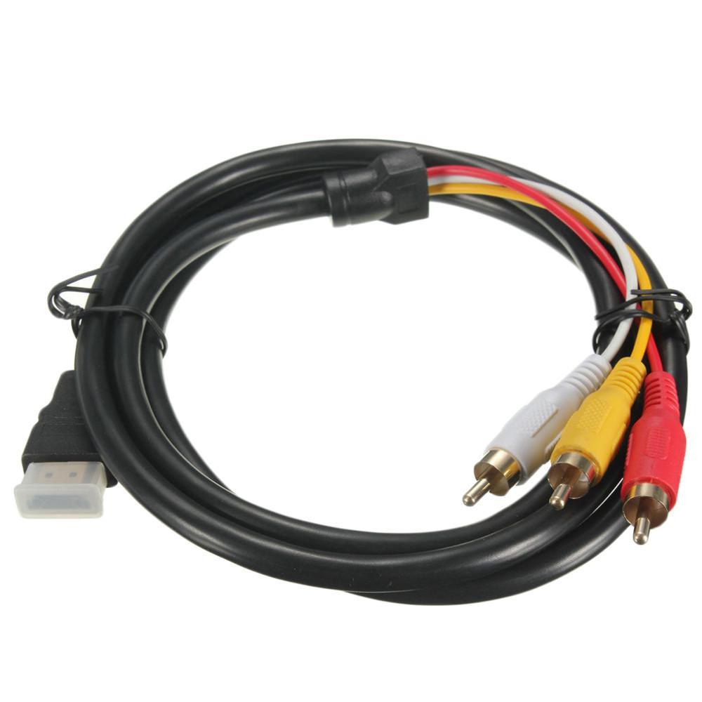 5FT 1.5 M 5 Ayaklar 1080 P HDTV HDMI Erkek 3 RCA 3RCA Erkek Ses Video AV Kablo Kablosu Adaptörü Dönüştürücü Bağlayıcı Bileşen Kablo Kurşun