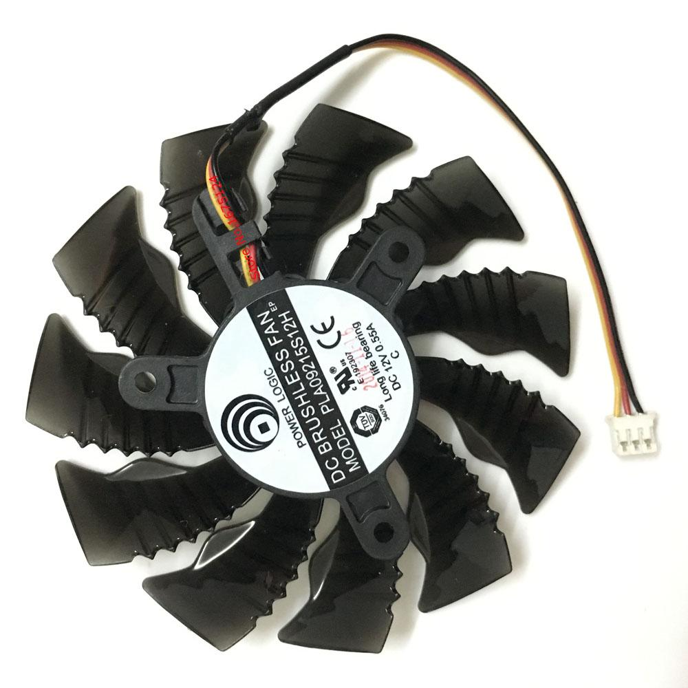 Wholesale- computer GPU radiator VGA Cooler fan For GIGABYTE GTX960 GTX 970  MINI-ITX graphics card cooling (PLA09215S12H 85MM 3Pin)
