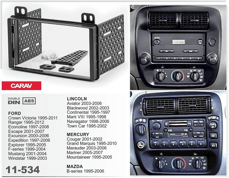 Carav 11 534top Quality Radio Fascia For Ford Crown Victoria Stereo Rhdhgate: Ford Windstar Radio Install At Gmaili.net