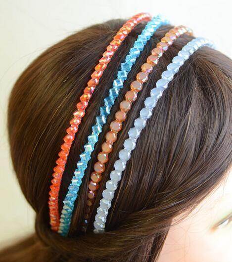 10 pz / lotto Mix Color 2 Fiw Crystal Hairband Hairband capelli gioielli moda regalo HJ026