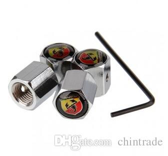 Hot Sales Car Anti-Theft Lockable Tire Wheel Rims Stem Air Valve Caps Trye Valve Covers For ABARTH