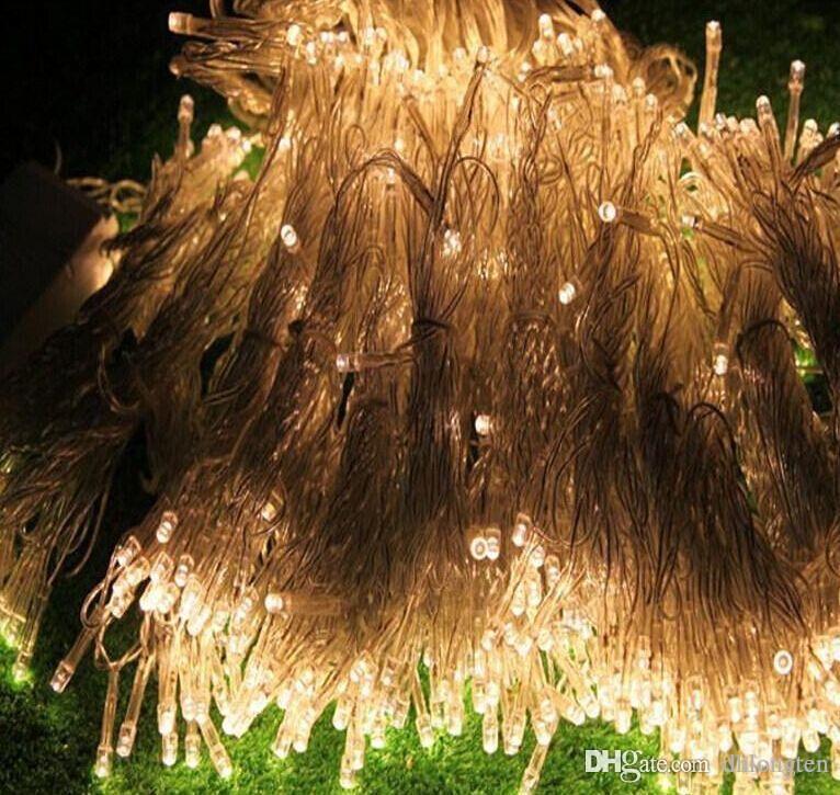 Livraison gratuite 1000 LEDS 10 * 3m Lumières De Rideau, Lumières D'ornement De Noël, Flash Couleur Fée De Mariage Décoration LED Bande De Lumière