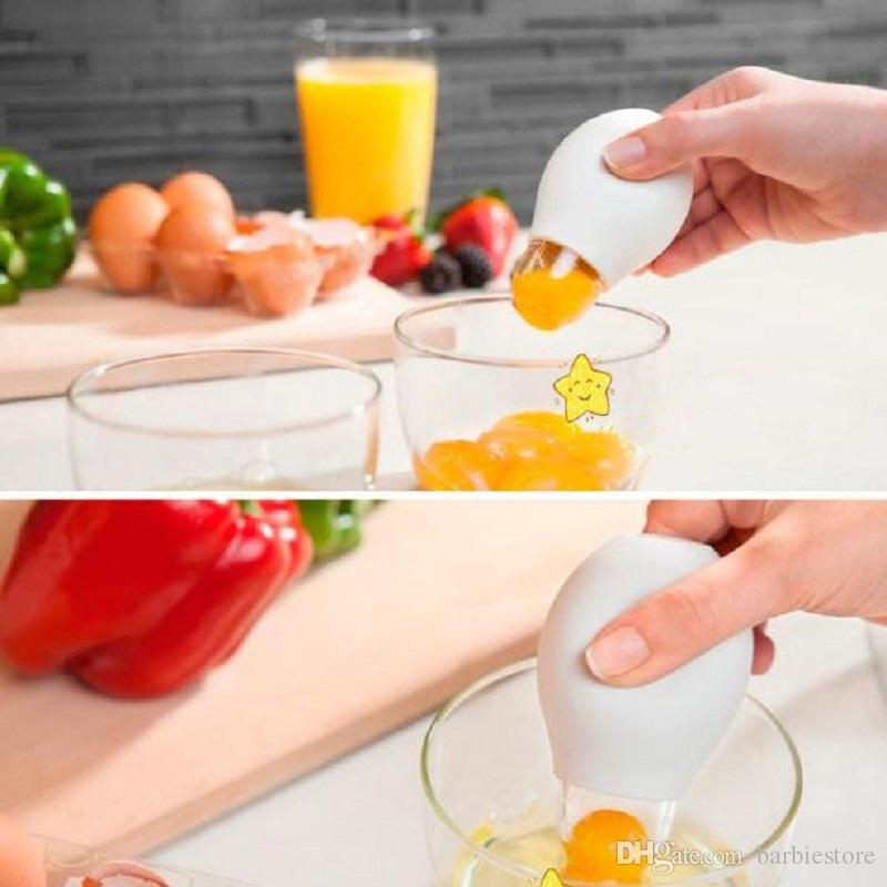 Silicone Oeufs Blanc Séparateur Jaune Extracteur Diviseur Maison Cuisine Outil E00050 BAR