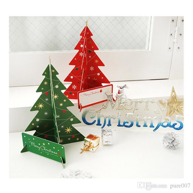 Compre Nueva Llegada De Papel Árboles De Navidad Decoración Navideña ...