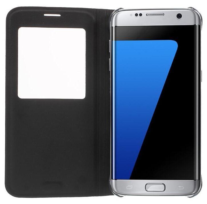 Para s8 s8 além de couro flip mobile phone case para samsung galaxy s6 vista da janela à prova de choque capa para iphone 7 galaxy s7 edge note 5 case