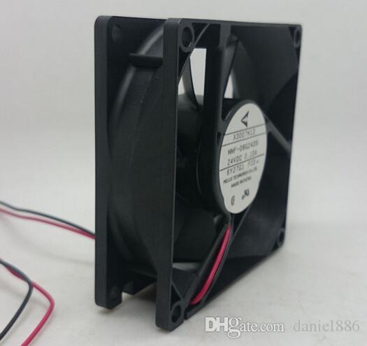 Ventilateur de refroidissement à inverseur à 2 fils de 80 * 80 * 25 24V 0.10A MMF-08G24DS