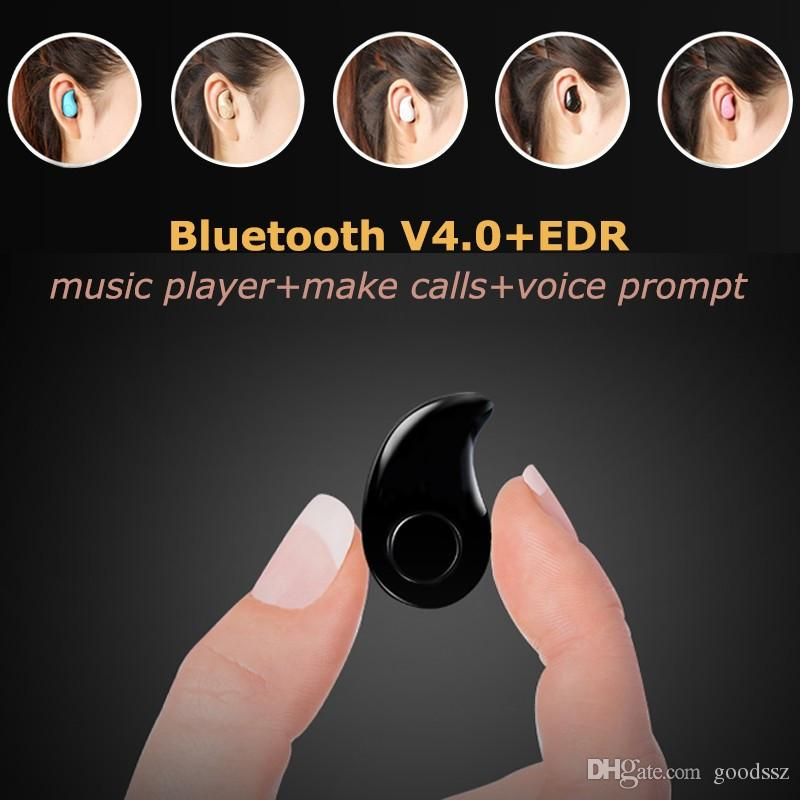 Hot S530 Mini Auricular Bluetooth Inalámbrico Auricular Manos Libres V4.0 Auricular Estéreo Invisible con MIC Music Answer Call para iPhone 7 Samsung