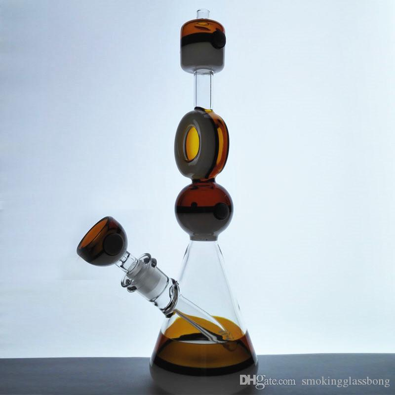 hitman 2018 ball rigs Glass bong dab rig Glass Water Pipes incycler  function pin hole perc Hookahs 14 mm Joint