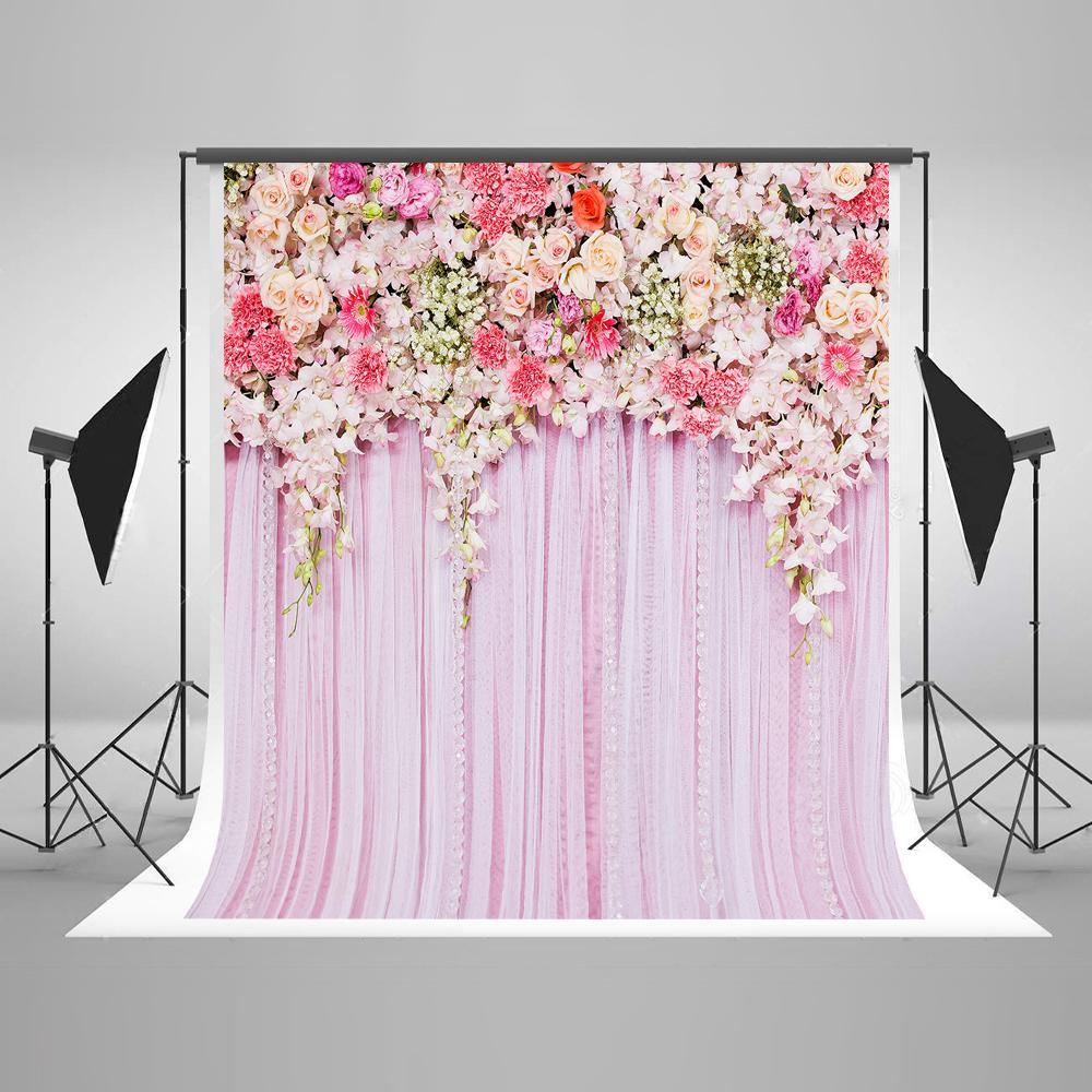 Wedding Backdrops: 2019 Photo Background Wedding Backdrop 10FT Pink