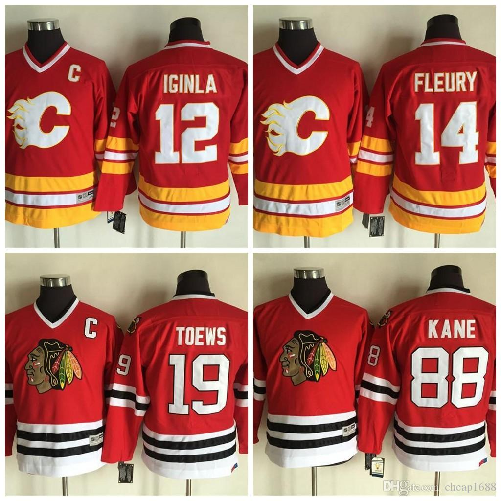 online store a12df 04212 authentic adidas flames 14 theoren fleury red alternate ...