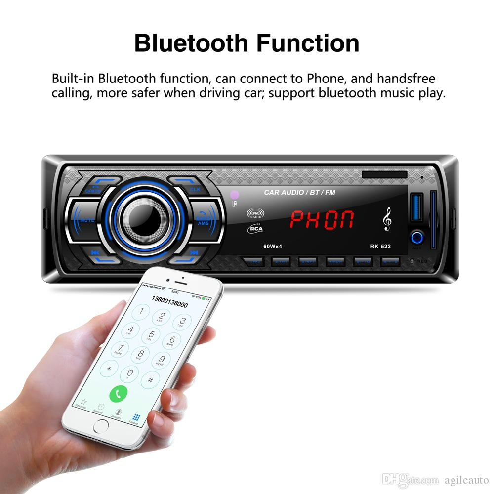 Bluetooth Car Radio MP3 Player Vehicle Stereo Audio with Remote Control Support FM USB SD AUX In CAU_01S