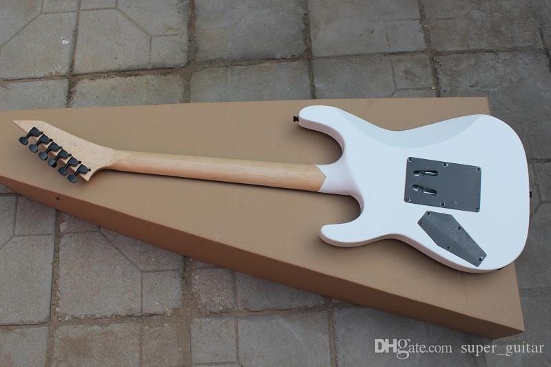 Ebony Fretboard Brand New Vente chaude de haute qualité Black White 6 Strinds Guitare électrique Livraison gratuite
