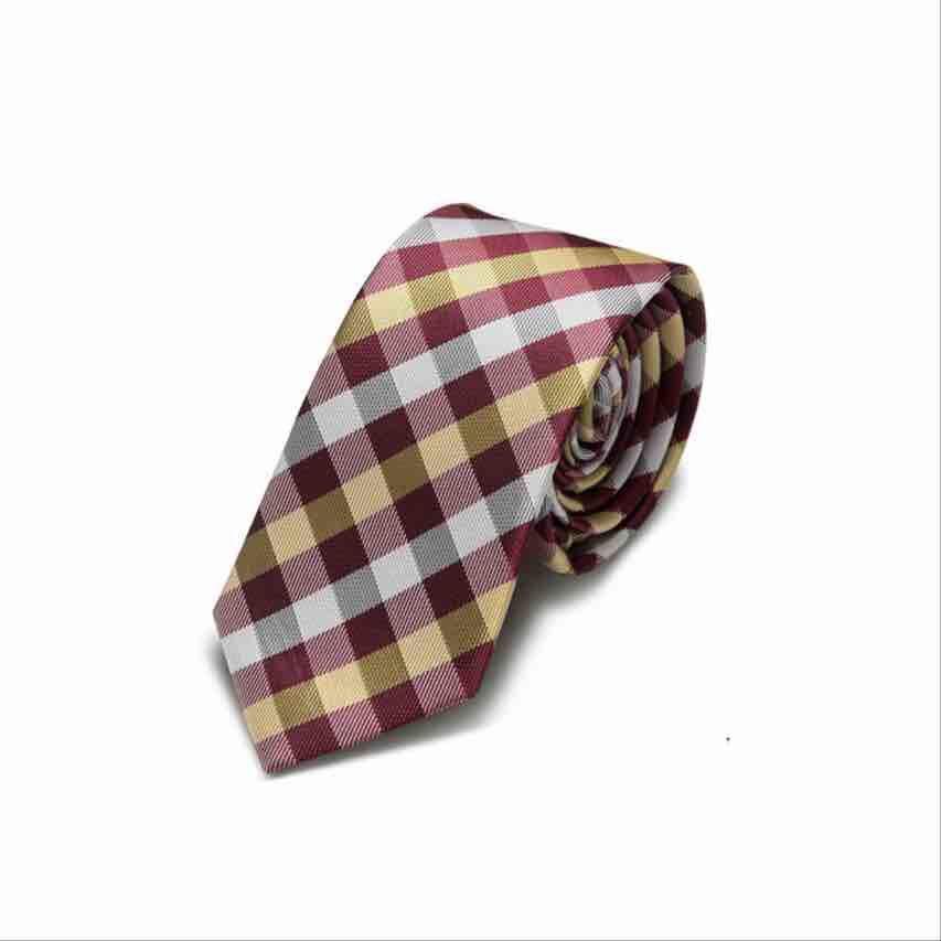 Acheter Grille Cravate 10 Couleurs Rayé Cou Cravate 145 6cm Jacquard Pour La Fête De Mariage Des Hommes Cadeau De Noël Pour La Fête Des Pères